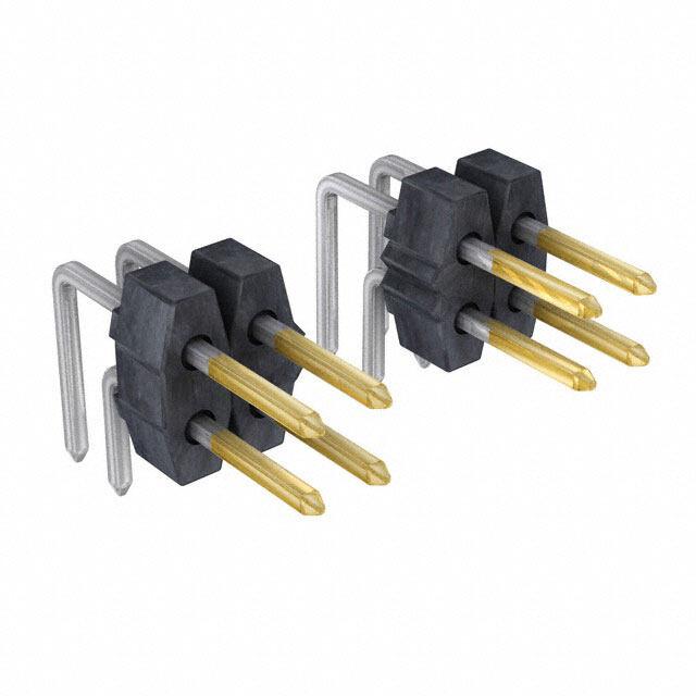 矩形连接器 - 针座,公插针